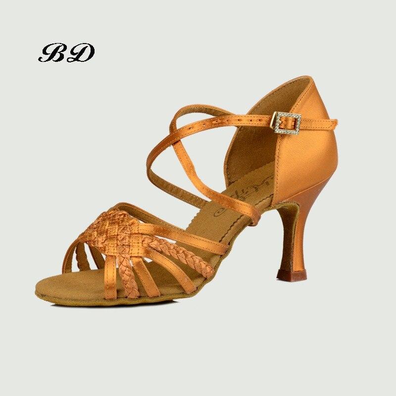 d34585bb3c Hot Sale] New Women Latin BD Dance Shoe 216 Satin Sandal Ladies ...