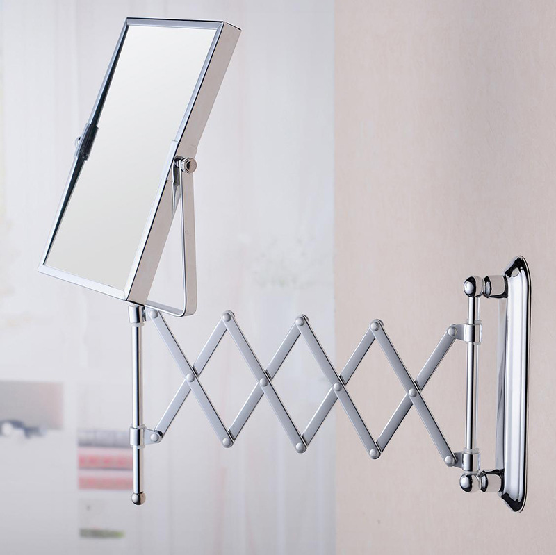 Bathroom Wall Mirror Square Folding Fashion Simple Durable Home Furnishing Counter Size
