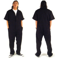 Short Sleeve Coverall Safety Clothing Short Sleeve Thin Leotard Jumpsuit Repair Auto Welders Crew Painter Car