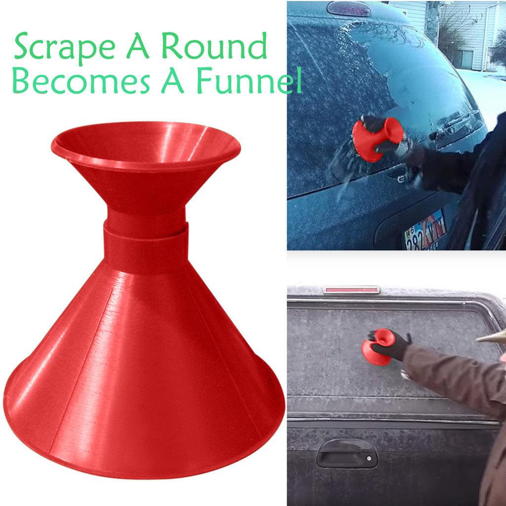 Скребок для льда пластиковый автомобильный скребок для снега универсальная запасная лопатка для льда Высококачественная оконная щетка для снега на открытом воздухе - Цвет: Red 1