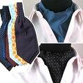 Men Fashion Stripe Polka Dots Checks Wedding Party Cravat Ties Ascot  BWTYY0050