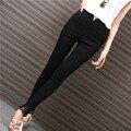 Yichaoyiliang Women Cotton Skinny Leg Pants Korean Style Lace Pencil Pant High Waist Casual Lulu Trouser
