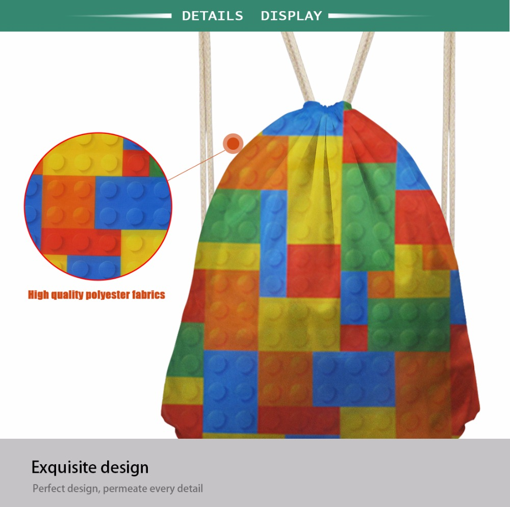 INSTANTARTS Colorful Painting Crazy Horse Print Women Men Drawstring Bags Boy Girl Basketball Storage Backpack Casual Beach Bag