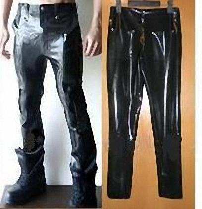 43be6b8ccee9b Sexy Mens Black Latex Suit Pants Leggings Skinny Rubber Trousers Plus Size-in  Pants from Novelty   Special Use on Aliexpress.com
