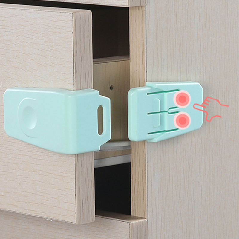 5pcs Plastic Baby Safety Protection Children Cabinets Boxes Lock Drawer Door Terminator Security Product Baby Safety Locks