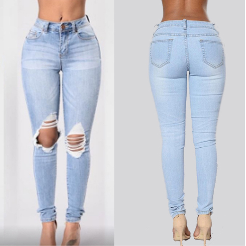 jeans taille haute femme skinny woman trousers women fashion denim ripped