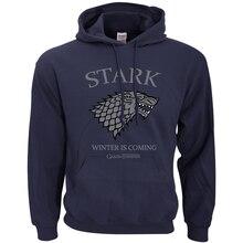 Casa Stark invierno Juego de tronos sudaderas con capucha de los hombres de la primavera de 2019 de invierno con capucha Sudaderas hombres de Hip Hop Streetwear