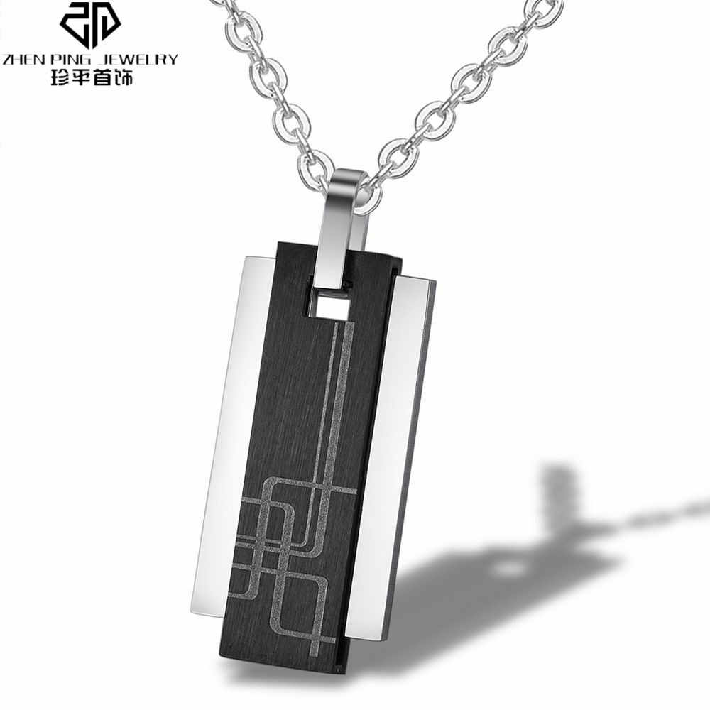 Fashion Pendant Necklaces Black 316L Stainless Steel Necklace Luxury Men Jewelry with Free Shipping