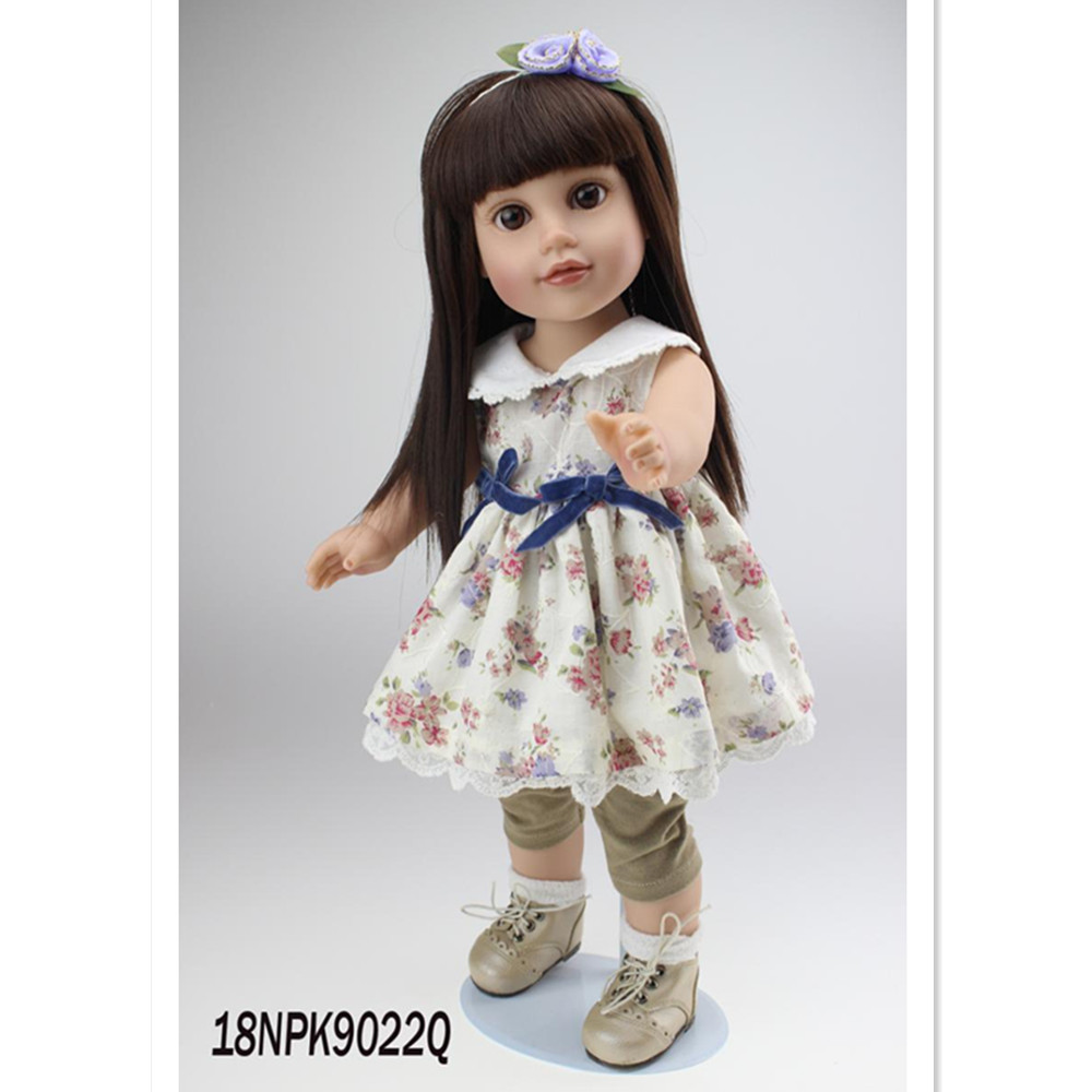 18 American Girl Dolls Princess Dolls Toys for Girls Children Birthday Gift,45cm Girls Doll with Clothes and Headdress lifelike american 18 inches girl doll prices toy for children vinyl princess doll toys girl newest design