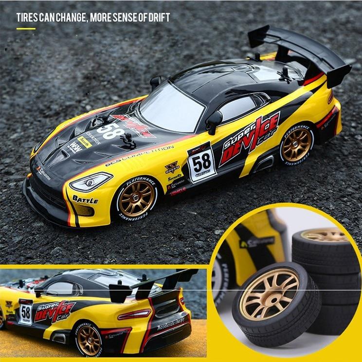 Dérive course RC voiture GTR modèle 4WD 2.4G hors route Rockster télécommande véhicule électronique passe-temps jouets