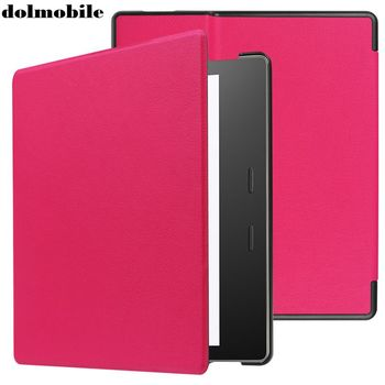 dolmobile Flip Book Cover PU Leather Case with Stand for Amazon Kindle Oasis 2 2017 Tablet + Stylus Pen 50pcs