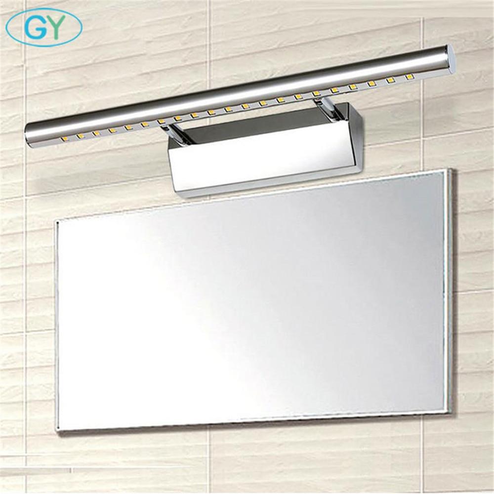 Moderno de acero inoxidable LED luz de espejo frontal baño - Iluminación interior - foto 6