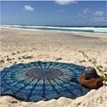 Durable  Beach towel Round Hippie Tapestry Beach Throw Roundie Mandala Towel Yoga Mat Bohemian from india bandana scarf