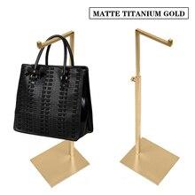 Купить с кэшбэком Matter Silver Metal Bag Display Stand Handbag Display Holder Rack Adjustable Height