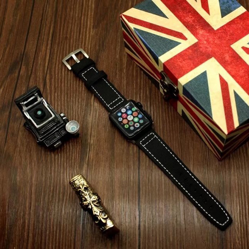 The latest design Woven Nylon band for Apple watch series 2 / 3 replacement bracelet strap watchband for iWatch 42mm 38mm bands