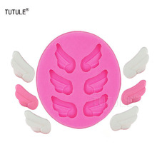 Gadgets-angel wings liquid silicone mold Cookies Fondant cake handmade kitchen bakeware