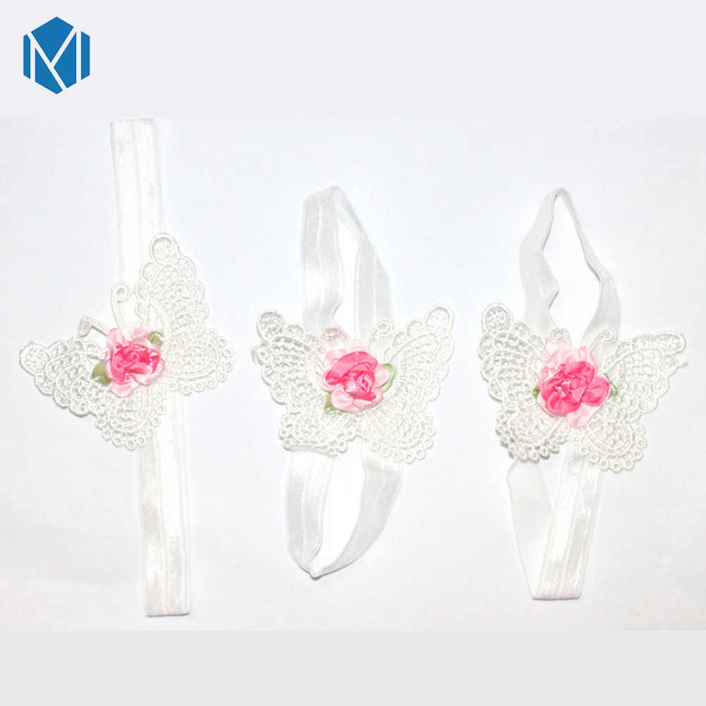 3 шт цветок повязка на голову для маленьких девочек Босиком Сандалии Аксессуары для волос для ног эластичные модные резинки для волос украшения для ног подарок для детей
