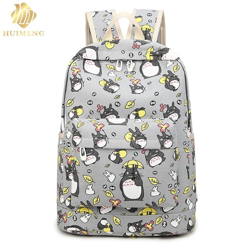 2017 нова мода жінок Totoro рюкзак 3D друку подорожі softback жінок mochila школи простір рюкзак ноутбук дівчата рюкзаки