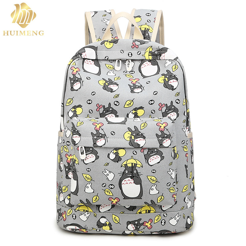 2017 new fashion Women Totoro Backpack 3D printing travel softback women mochila School space backpack notebook girls backpacks