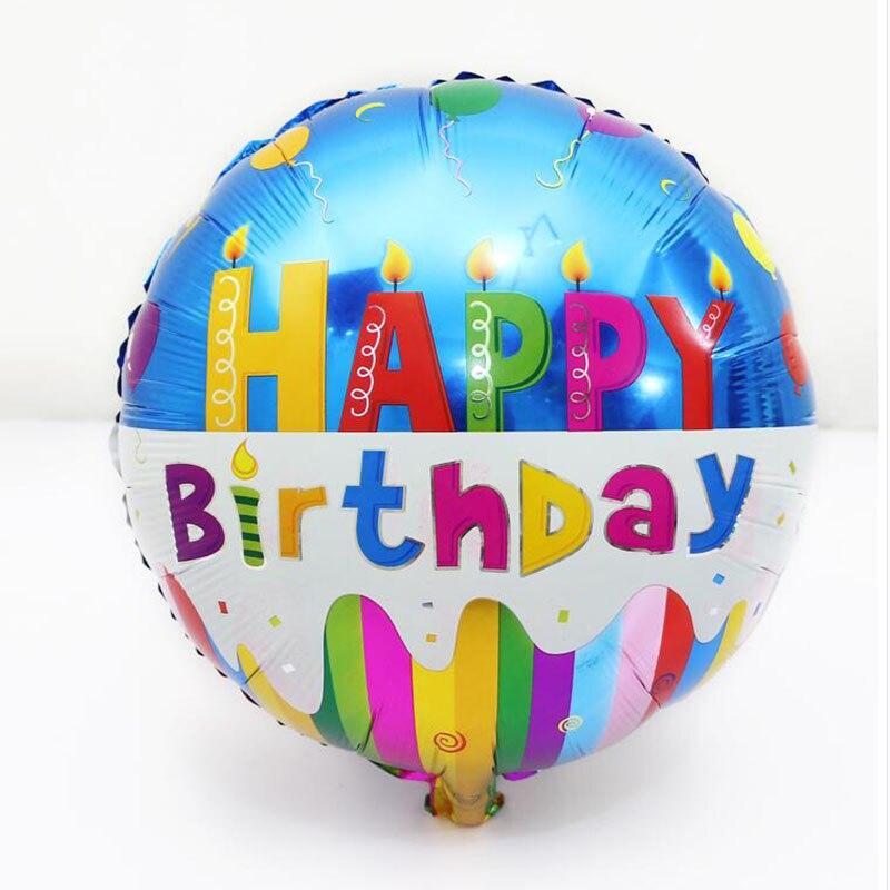 hot sale 10pcs/lot 18inch  happy birthday balloon metallic ballon for birthday p