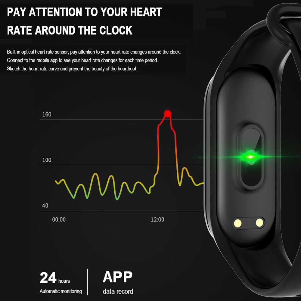 Fentorn M 4 כושר צמיד לב שיעור לחץ דם צג Bluetooth חכם צמיד שעון לשיאו Mi Band אנדרואיד IOS טלפון