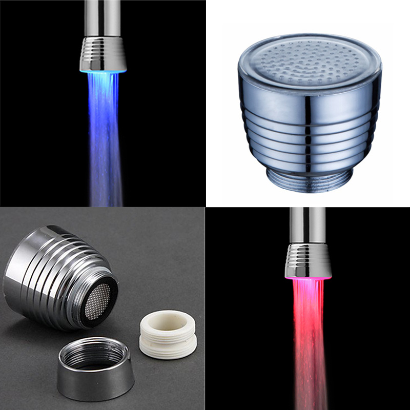 Temperature Sensor RGB Glow LED Light Shower Faucet