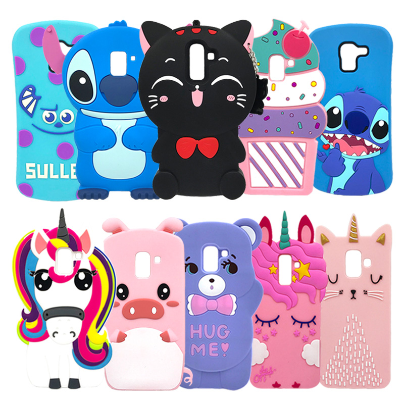 Silicone Case For Samsung Galaxy J4 J6 J8 2018 Case J600 J400F 3D Cartoon Cute Cases For Samsung J6 J4 Plus Cover Coque Fundas