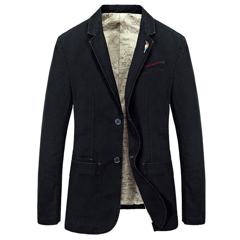 New Mens Blazer Jackets Male Fashion Cotton Casual Suit Jacket Men Blazer Coat Brand Slim Fat Vintage Outwear Clothing BF66002A