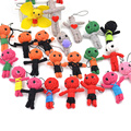 Lychee 1 piece New Arrival Handmade String Cute Voodoo Doll Key Chain Hanging Key Ring Pendant Random Color