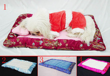Wholesale  Dog Cushion Pet Sleeping Mats  Luxuirous Blanket with pillow