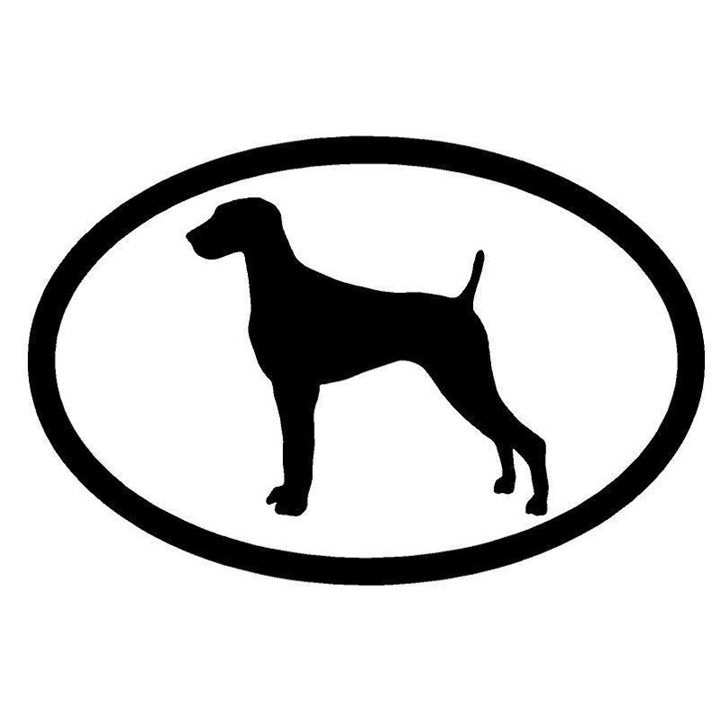 15.2*10CM Weimaraner Dog Car Cover Scratches Window Decorative Decal Cartoon Animal Car Sticker C6-1217