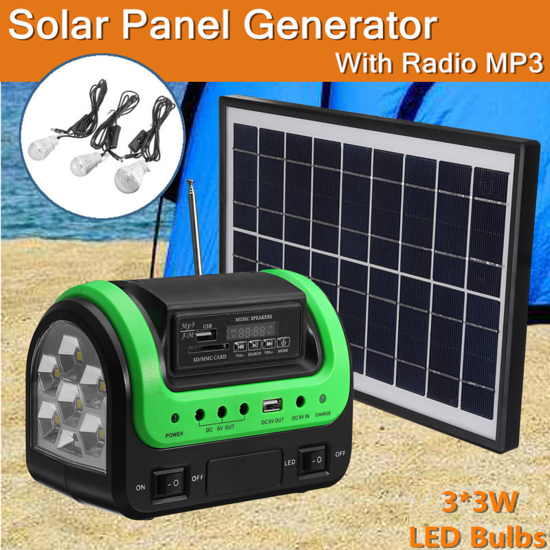 Portable DC Solar Panel Charging Generator Power Supply Board Charger Radio MP3 Flashlight Mobile LED Lighting System Outdoor portable dc solar panel charging generator power supply board charger radio mp3 flashlight mobile led lighting system outdoor