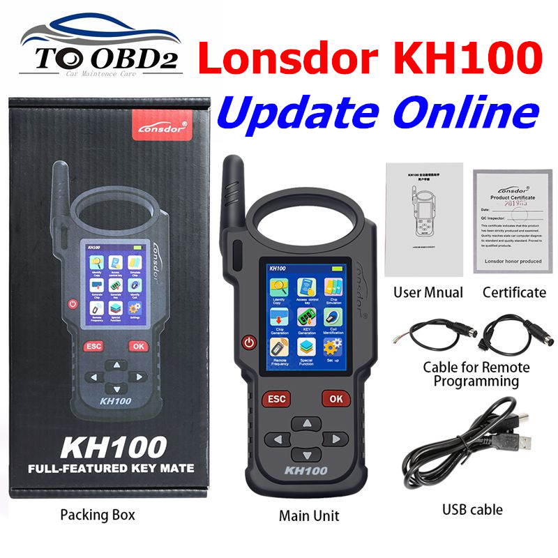 Original Lonsdor KH100 Remote Maker Key Programmer Generate Chip Simulate Chip Identify Copy Remote Frequency Access