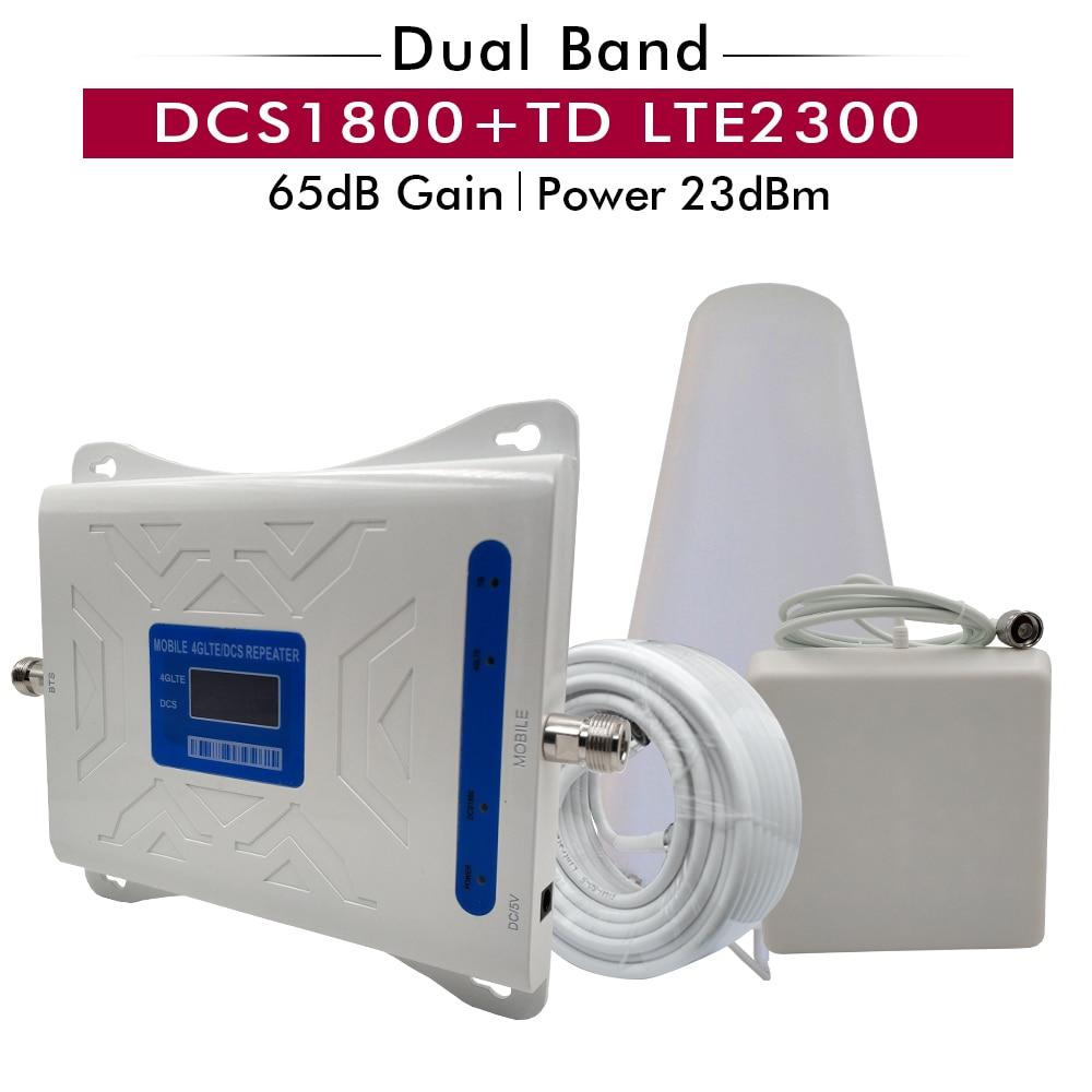 Répéteur de Signal double bande 2G 4G DCS/LTE 1800 + TD LTE 2300 amplificateur de Signal Mobile (B3) 1800 + (B40) amplificateur de Signal de téléphone portable TDD 2300
