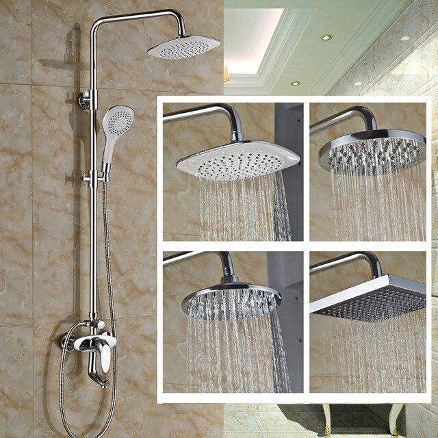 4 Types Shower Head Bathroom Mixer Taps Adjule Faucet W Abs Handshower