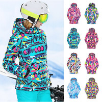 2018 wintersport snow ski jacket women snowboard ski jas vrouwen warm waterproof veste hiver femme skiing and snowboarding