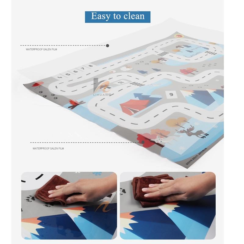 CM Car Park Play Mat Toys for Children s Mat Non woven Film Kids Rug