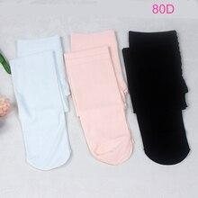 Meninas Da Criança do bebê Pagado Ballet Meia-calça 80D Preto Branco Rosa Leggings Collants de Balé de Dança