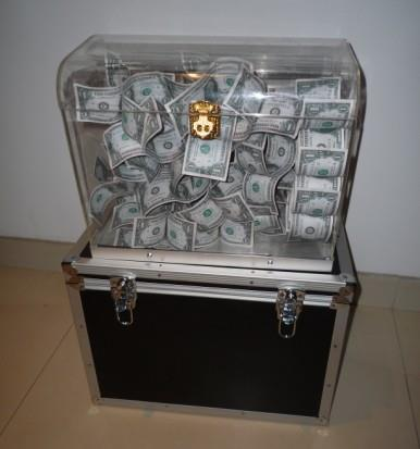 CRYSTAL MONEY CHEST - Stage Magic / Magic Trick, Gimmick,Props,Illusion,Super effect,Party Trick nest of boxes wooden magic tricks vanished object appearing in the box magie stage illusion gimmick props funny mentalism