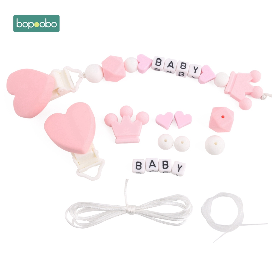 Useful Wooden Bead Love Heart Beads Teether Safety Party Supplies one