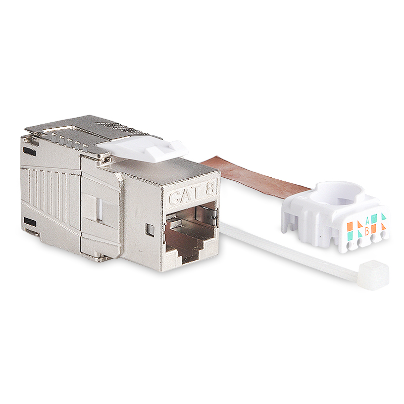 NETWORK RJ45 CAT6A CAT8 KEYSTONE JACK MODULE SOCKET FULL SHIELDED TOOLLESS TYPE SUPPORT 10G/40G 550MHz/2000MHz PoE/PoE+ 100W