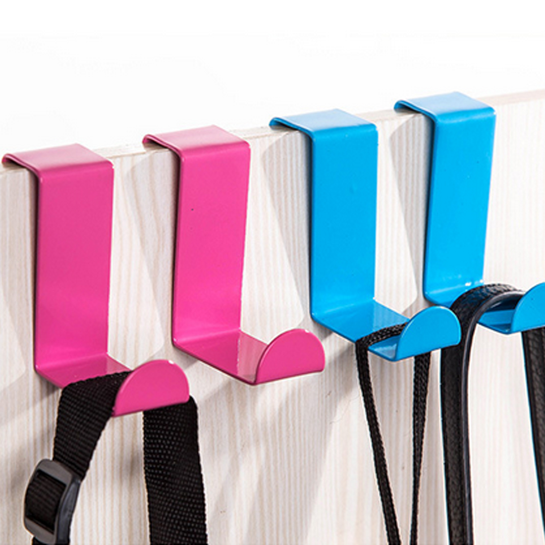 2pcs/set Stainless Steel Cabinet Door Drawer Hooks Clothes Hanger Towel Holder Home Organizer Kitchen Accessories