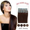 Дешевые ленты в человеческих волос 20 шт./лот бразильского виргинские волос бесплатная доставка Уток Кожи Реми Волос, ленточное наращивание волос