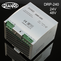 DIANQI Din rail Single output Switching power supply DRP 240w 48V 24V ac dc converter DR 240 24 DRP 240 48 high quality
