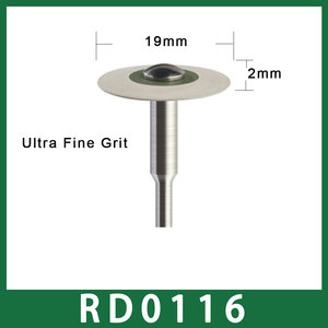 Image 5 - Size 19mm X 2mm Dental Laboratory Rubber Diamond Polisher 2.35mm for Low Speed Handpiece