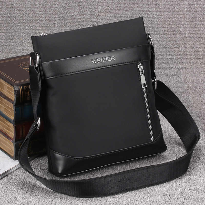4b43653671 ... WEIXIER Brand Oxford Waterproof Men s Business Shoulder Bags Casual  Office Crossbody Bag High Quality Man Travel ...