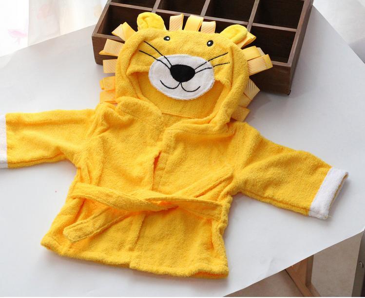 Bath towel  Lovely fashion Childrens cartoon cotton bath towel  girl  boy  baby bathrobe Free shipping