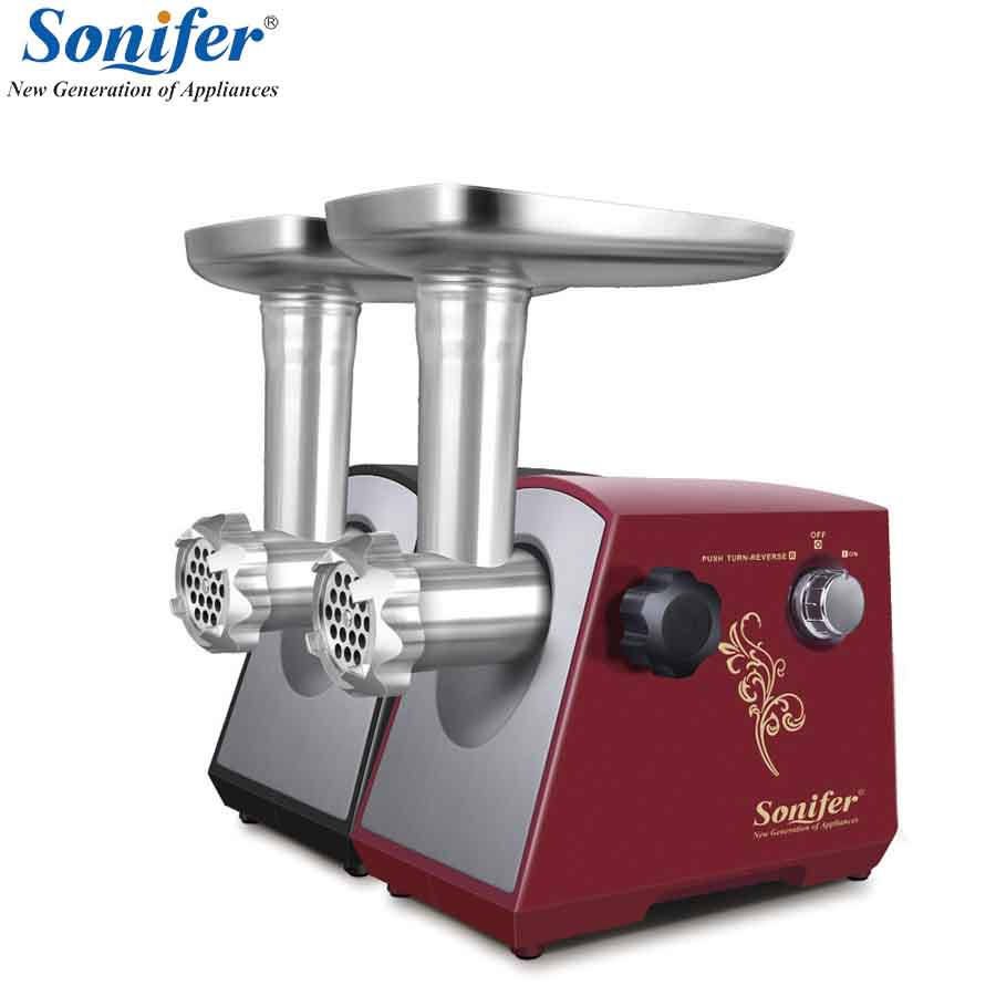 1200W Colorful Home Electric Meat Grinder Sausage Stuffer Mincer 220V Heavy Duty Household Mincer Sonifer 110 240v electric meat grinder heavy duty household commercial sausage maker meats mincer food grinding mincing machine