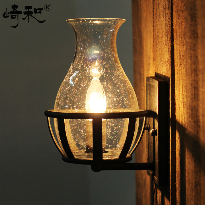 все цены на Vintage Industrial Edison Glass Bottle Wall Lamp Loft Light Bedroom Aisle Cafe Cafe Bar Store Hall Club Coffee Shop Decor