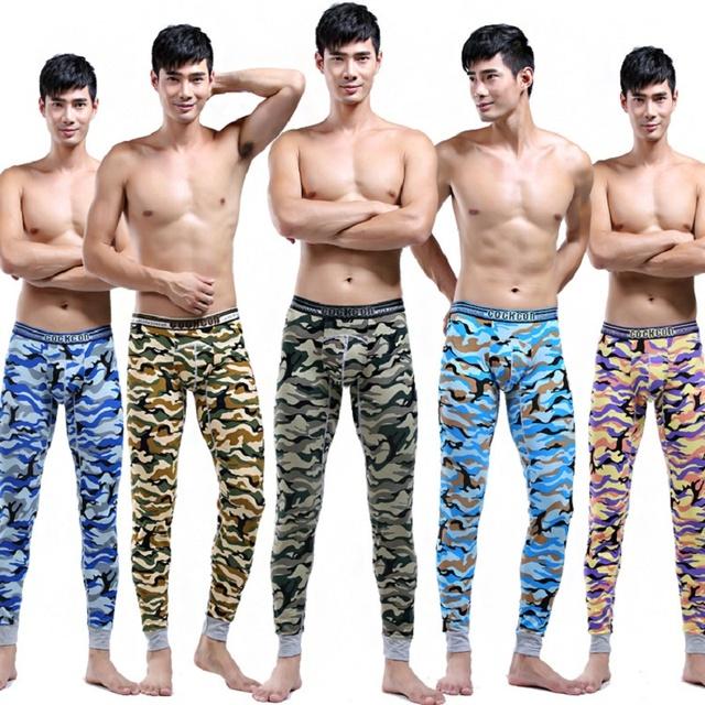 COCKCON Marca Calzoncillos largos Al Por Mayor Nuevo 2016 caliente nombre de algodón ropa interior térmica thermo ropa interior hombre long john calzoncillos CJW001